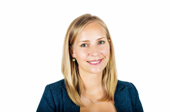 Young blond woman studio portrait