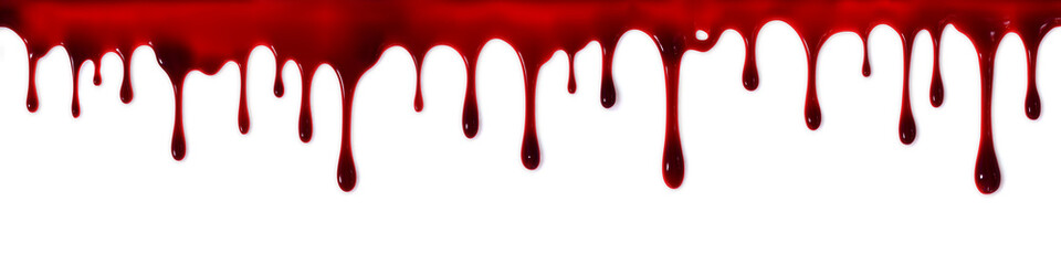 Dripping blood banner Wall mural