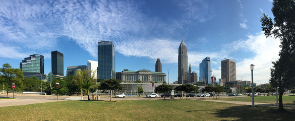 Panorama of the city center of Cleveland, Ohio