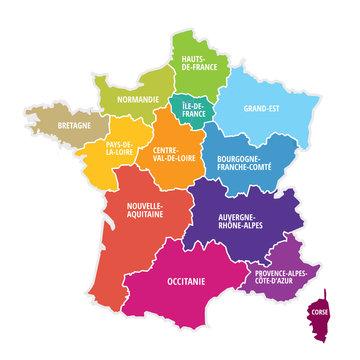 carte région