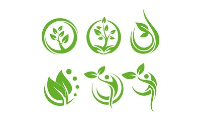 Logo Set Life Healthy, Ecology
