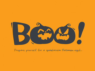 Halloween message Boo!