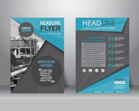 brochure flyer design template. vector