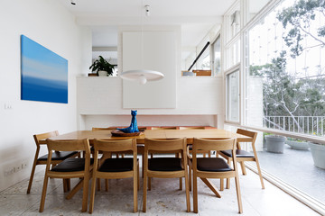Beautiful scandinavian style interior in mid century modern Aust