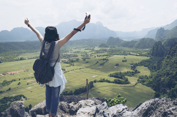backpacker is freedom of life.