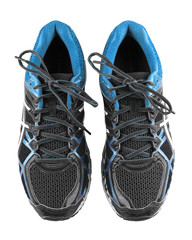 Sport running shoes isolated with clipping path