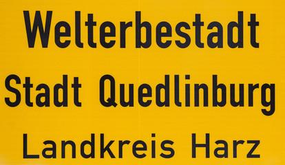 Welterbestadt Stadt Quedlinburg Landkreis Harz