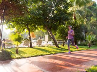 sporty woman jogging