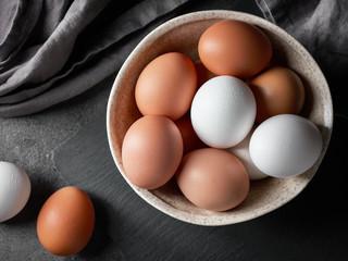 bowl of various eggs