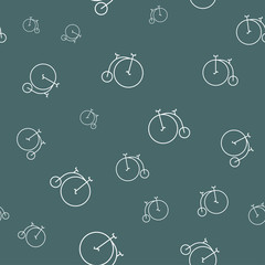 Seamless pattern with old vintage bikes