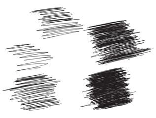 Scribble sketch strokes