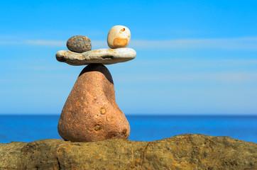 Counterbalance of stones