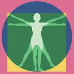 Femme - Proportions - Vitruve