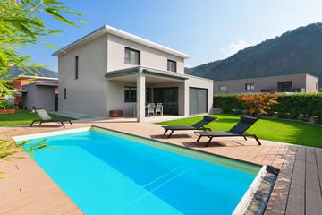 pool of a modern house