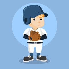 baseball player with glove