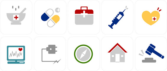 simple icons set 10
