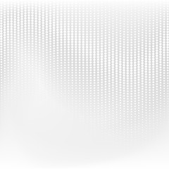 Vector dotted monochrome pattern. Modern geometric texture in grey color. Halftone effect