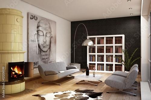 gem tliches wohnzimmer stockfotos und lizenzfreie bilder auf bild 121208599. Black Bedroom Furniture Sets. Home Design Ideas