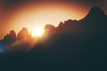 Wall Mural - Scenic Alpine Sunset