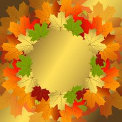 Autumn decorative floral frame