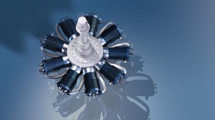 Neunzylindriger Sternmotor als historischer Flugzeugantrieb