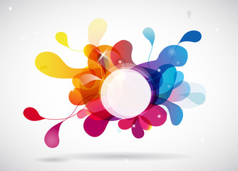 Abstract colored background with circle.