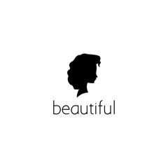 beauty woman face logo graphic design concept