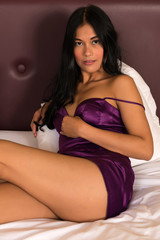 Filipina in purple