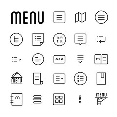 Menu line icons