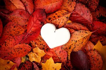 Decorative handmade white heart