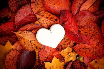 Decorative white heart