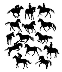 Equestrian Sports, art vector silhouette design