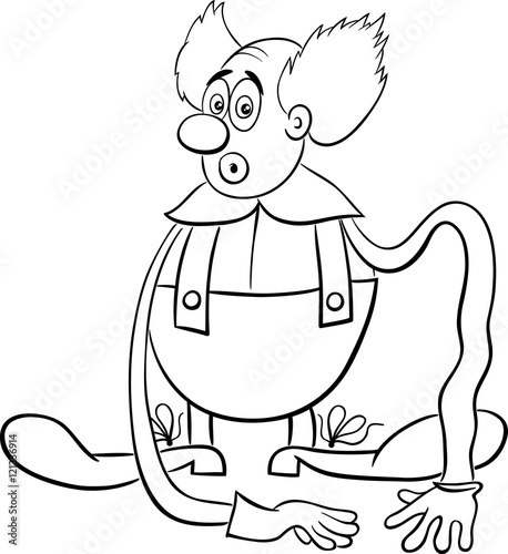 Circus Clown Coloring Page Stock Image And Royalty Free Vector
