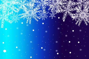 simple christmas blue background with snowflake. vector illustration.