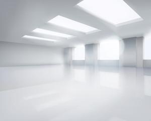 Large empty room. Vector illustration.