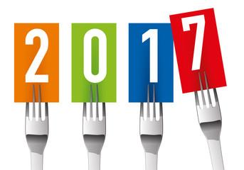 2017 - Carte de vœux - Restaurant - Cuisine