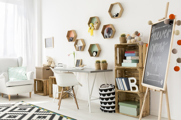 Charming and modern child room