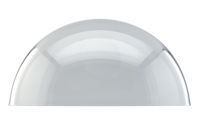 Glass dome side view isolated on white background. Wall mural