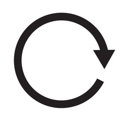 replay icon, Repeat sign icon on white background.