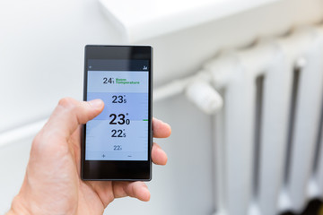 modern house heating temperature control system with smart phone