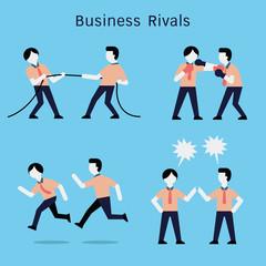 Business rivals set
