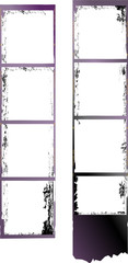 Wall Mural - frame of film, grungy photo frame,with free copy space,vector,fi
