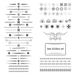 A diverse collection of vector dividers, bumpers, frames, ornaments.