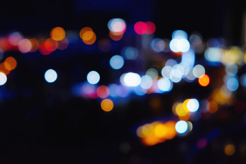 blurred  lights of the night city Fotomurales
