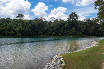 HIking at Macritchie Reservoir