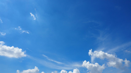 Sky Blue bright and cloud background has more space