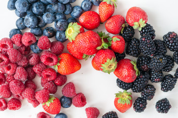 blueberries raspberries strawberries blackberries