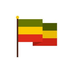 Flag of Jamaica icon in flat style on a white background vector illustration