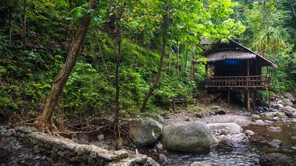 Native Hut by Jungle Creek