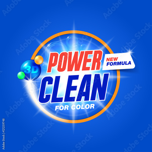 Quot Power Clean Template For Laundry Detergent Package